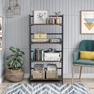 Link to Carbon Loft Searz 4-shelf Metal Bookcase Storage Bookshelves Wall Ladder Similar Items in Bookshelves & Bookcases