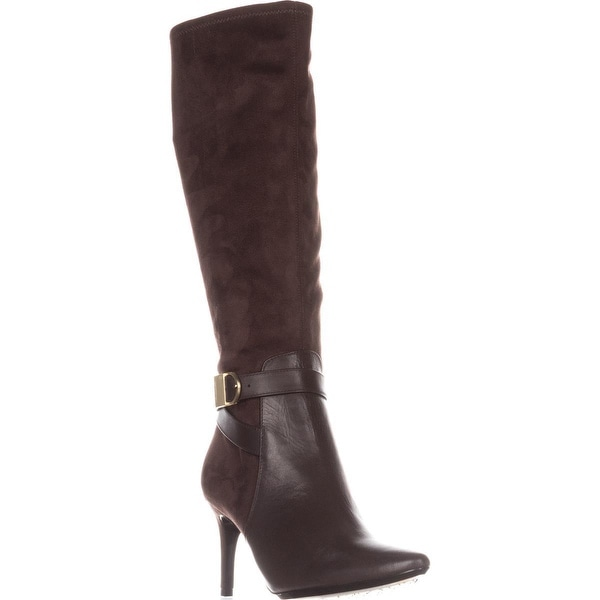 Calvin Klein Jemamine Wide Calf Knee-High Dress Boots, Coffee Bean