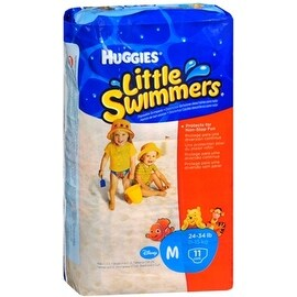 HUGGIES Little Swimmers Medium 24-34 LBS 11 Each [8 packs per case]