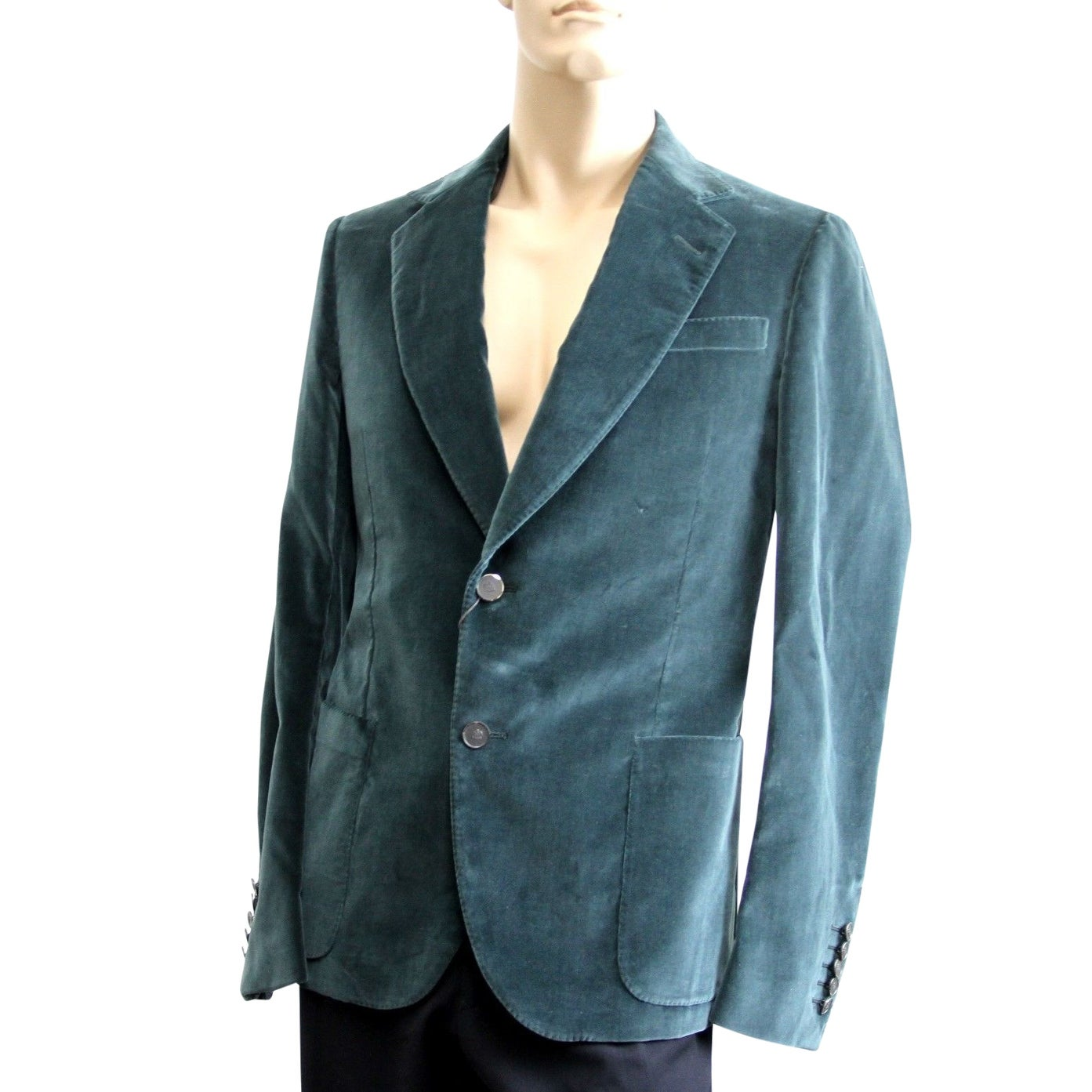 Gucci Men S Runway Green Velvet Jacket Blazer 298957 Overstock 28472580