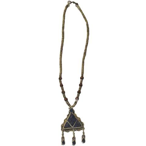 Handmade Lapis Lazuli Necklace (Afghanistan)