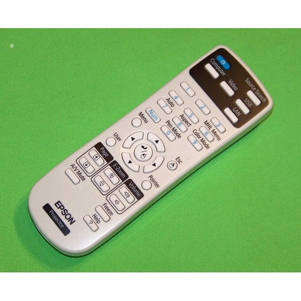Epson Projector Remote Control Shipped With: BrightLink 575Wi, 585Wi, 595Wi