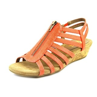 A2 By Aerosoles Yetaway Women W Open Toe Synthetic Orange Wedge Sandal