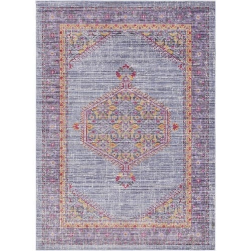 Surya GER2308-211710 Germili 3' x 8' Runner Synthetic Power Loomed Traditional A - Purple