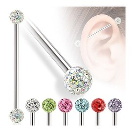 Epoxy Coated Ferido Multi-Crystal Balls Surgical Steel Industrial Barbell (Sold Individually)