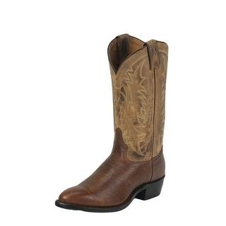 Tony Lama Western Boot Men Americana Conquistador Shoulder Cognac 7938
