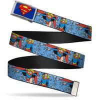 Superman Fcg Blue  Chrome Supergirl Action Poses Expressions Webbing Web Belt