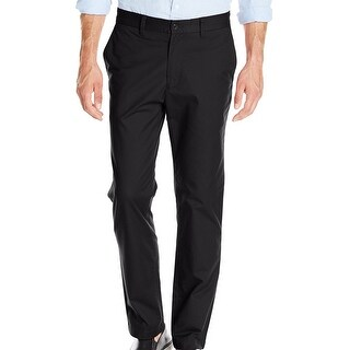 "Nautica Men's Marina Chinos True Black Pants Size 34""W x 32""L - 34X32"
