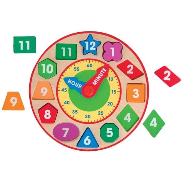 Melissa & Doug Wooden Shape Sorting Clock. Opens flyout.