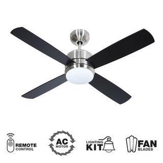 """Craftmade Montreal 44"""" 4 Blade Indoor Ceiling Fan - Blades, Remote and Light Kit Included"""