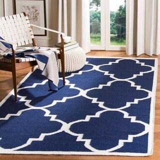 Link to Safavieh Handmade Flatweave Dhurries Bethany Modern Moroccan Wool Rug Similar Items in Transitional Rugs