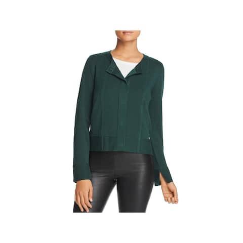 Donna Karan Womens Cardigan Sweater Snap Front Office