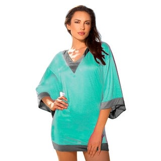 Ingear Beach Pool Cover-up Color Block Tunic