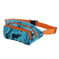 Wellhouse Authorized Running Hiking Keys Holder Sports Waist Bag Camouflage Blue