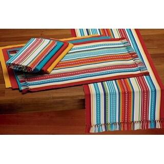 """72"""" Vibrant Baja Striped Table Runner - multi"""
