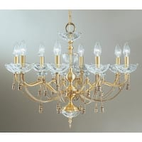 "Classic Lighting 5498 Devonshire 8 Light 27"" Wide Single Tier Taper Candle Chandelier"