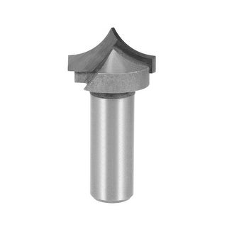 Router Bit 1/2 Shank 1 inch Dia Tapered End Mill, Carbide for Woodworking