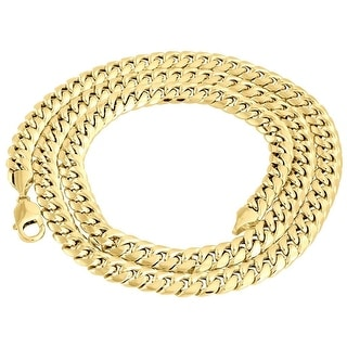 10k Yellow Gold Chain Mens Miami Link 6mm Wide Cuban Link Chain By MidwestJewellery