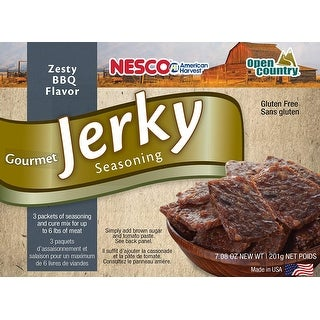 Nesco BJQ-6 Gourmet Jerky Seasonings, Zesty Tangy BBQ, Includes 3 Seasoning and 3 Cure Packets