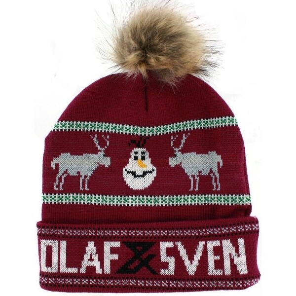 Froze Olaf & Sven Knit Beanie with Pom