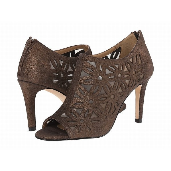 Vaneli NEW Brown Bronze Women Shoes Size 8.5M Babe Open Toe Heels
