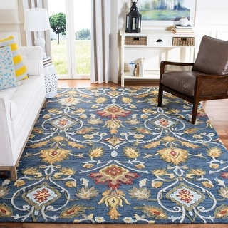 Link to Safavieh Handmade Blossom Fiorello Modern Floral Wool Rug Similar Items in Decorative Accessories