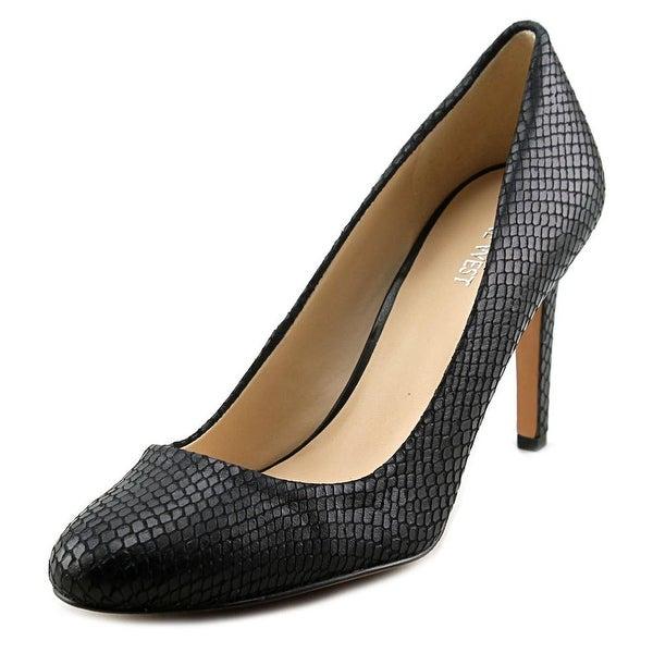 Nine West Handjive   Round Toe Leather  Heels