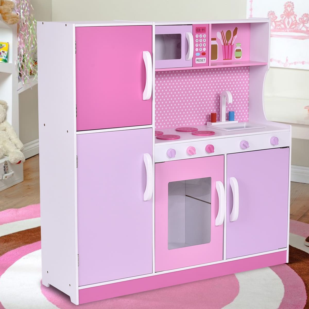Wood Kitchen Toy Cooking Pretend Play