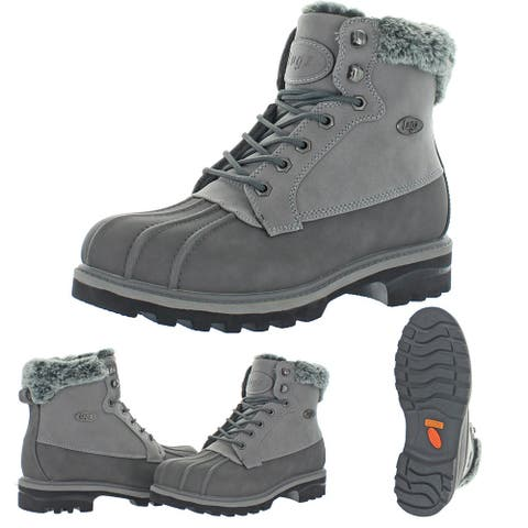 Lugz Women's Mallard Fur Faux Nubuck Water Resistant Memory Foam Chukka Boot - Charcoal/Medium Grey/Black