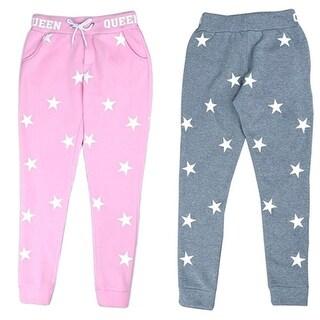 Fashion Women Drawstring Star Print Casual Outdoor Yoga Sports Pants Sweatpants