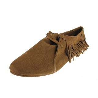 Volcom Womens Downtown Suede Fringe Moccasins