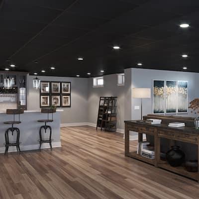 Genesis Stucco Pro Black 2 x 2 ft. Lay-in Ceiling Tiles