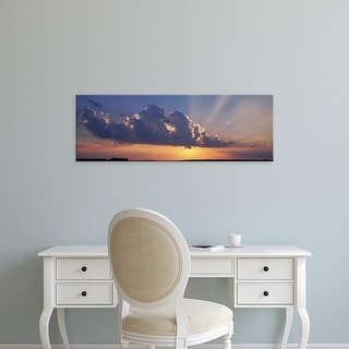 Easy Art Prints Panoramic Images's 'Sunset, Marion County, Illinois, USA' Premium Canvas Art