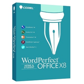 Corel WordPerfect Office X8 Home & Student Edition Boxed WPOX8HSEFMB