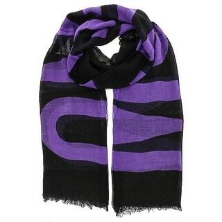 Moschino SCR11235/16 Black/Purple Signature Scarf