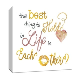 "PTM Images 9-147076  PTM Canvas Collection 12"" x 12"" - ""The Best"" Giclee Sayings & Quotes Art Print on Canvas"