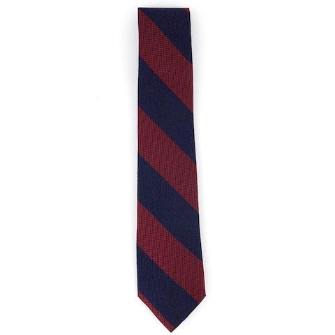 Tommy Hilfiger Men's Andy Stripe Tie Red Size Regular