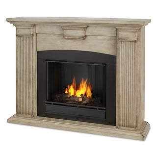 Real Flame 7920-DBW Adelaide Ventless Gel Fireplace in Dry Brush White - dry brush white
