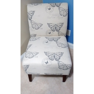 Linon Bradford Accent Chair with Butterfly Print