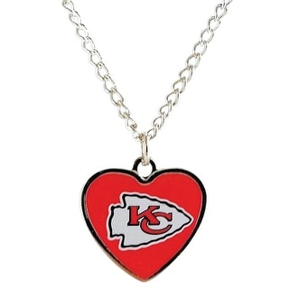 Cleanlapsports Kansas City Chiefs  Heart Shaped Pendant Necklace