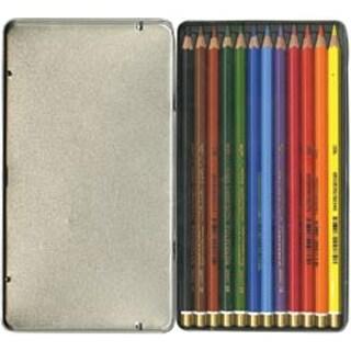Mondeluz Aquarell Watercolor Pencils 12 Pkg Chartpak Soluble Set Storage