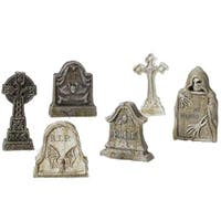Department 56 Accessories for Villages Halloween Tombstones Accessory Figurine (Set of 6)