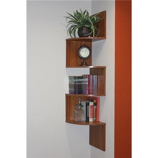 4D Concepts 99200 Hanging Corner Storage, Fruitwood