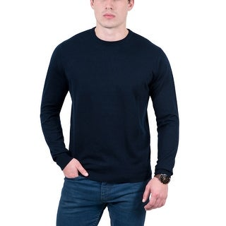Real Cashmere Dark Blue Crewneck Cashmere Blend Mens Sweater|https://ak1.ostkcdn.com/images/products/is/images/direct/10ed4dc14e42f5c47cefbcb5b77ee0d9261ff91f/Real-Cashmere-Dark-Blue-Crewneck-Cashmere-Blend-Mens-Sweater.jpg?_ostk_perf_=percv&impolicy=medium