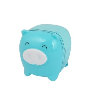 Blue Pig Design Plastic Housing Pencil Sharpener Tool for Students