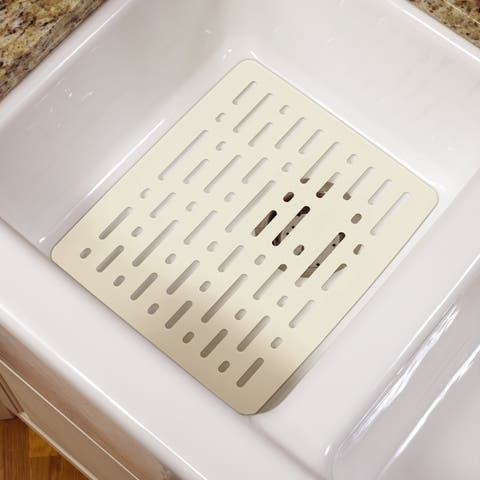 "Rubbermaid 1G1606 12.8"" Wide Single Basin Sink Mat - White"