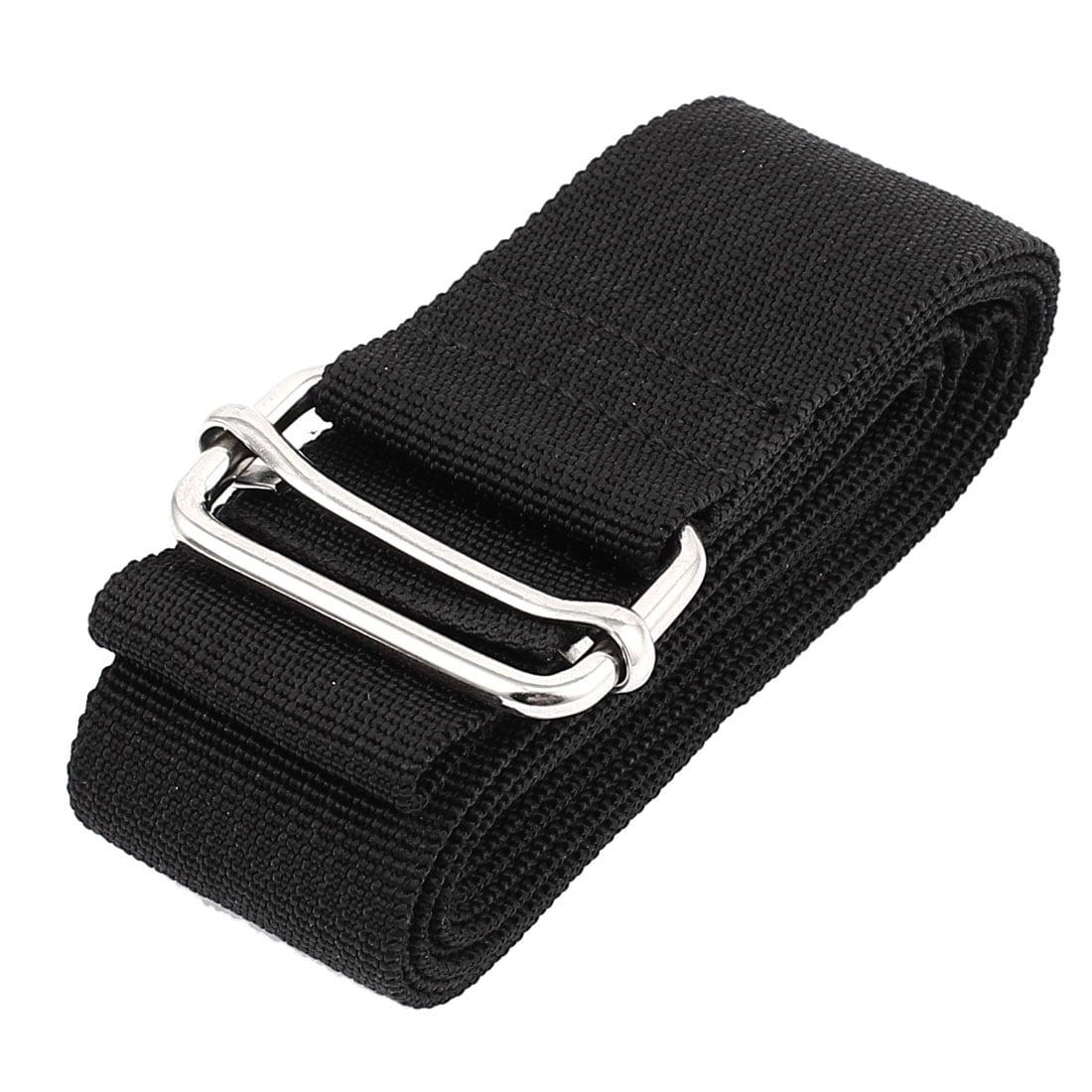 Quick Release Buckle Luggage Suitcase Backpack Baggage Belt Strap Black 10Ft