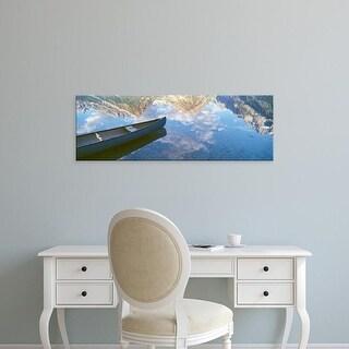 Easy Art Prints Panoramic Images's 'Clouds, Teton Range in Phelps Lake, Grand Teton National Park, Wyoming' Canvas Art