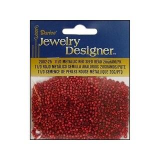 Darice JD Seed Bead 11/0 Metallic Red