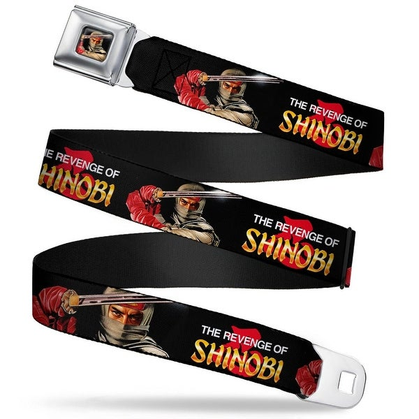 Sega Genesis The Revenge Of Shinobi Joe Musashi Close Up Box Cover Pose Seatbelt Belt